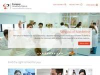 European University Cyprus Website Screenshot