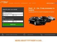 7777 Rent-A-Car Website Screenshot