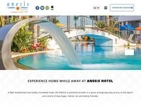Anesis Hotel Website Screenshot