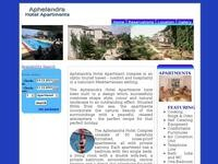 Aphelandra Hotel Apartments Website Screenshot