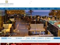 Athena Beach Hotel Paphos Website Screenshot
