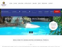 Avlida Hotel Website Screenshot