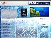 Dive In Limassol Website Screenshot