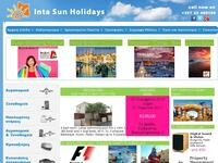 Inta Sun Holidays Website Screenshot