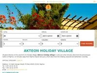 Akteon Holiday Village Website Screenshot