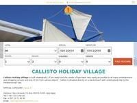 Callisto Holiday Village Website Screenshot