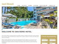 San Remo Hotel Larnaca Website Screenshot