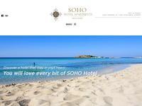 Soho Hotel Apartments Website Screenshot