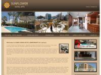 Sunflower Hotel Larnaca Website Screenshot