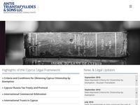 Antis Triantafyllides & Sons LLC Website Screenshot