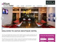 Altius Hotel Nicosia Website Screenshot