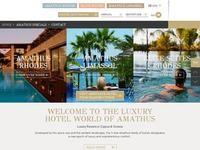 Amathus Hotels Website Screenshot