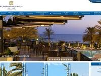 Constantinou Bros Hotels Website Screenshot