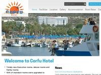 Corfu Hotel Website Screenshot