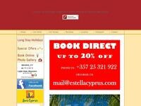Estella Hotel Apartments Website Screenshot
