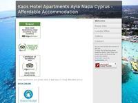 Kaos Hotel Apartments Website Screenshot