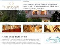 Stephanos Apartments Polis Website Screenshot