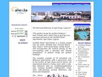 Alexia  Hotel Apartments Website Screenshot
