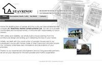 Stavrinou Home Construction Website Screenshot