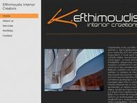 Efthimoudis Interior Creators Website Screenshot