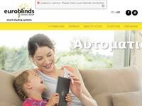 Euroblinds Shading Systems Website Screenshot