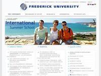 Frederick University Cyprus Website Screenshot