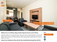 Helios Bay Hotel Website Screenshot