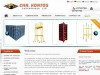 Kontos Enterprises Website Screenshot