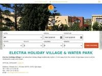 Electra Holiday Village Website Screenshot