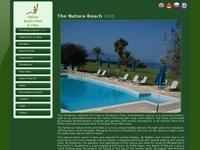 Natura Beach Hotel Website Screenshot