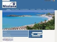 Nissiana Hotel Website Screenshot