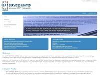 RPT Services Ltd Website Screenshot