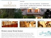 Stephanos Apartments Polis Website Screenshot