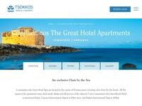 Constantinos The Great Apartments Website Screenshot