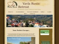 Vavla Rustic Retreat Website Screenshot