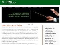 Vert Blanc Enterprises Website Screenshot