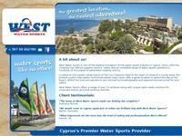 West Water Sports Website Screenshot